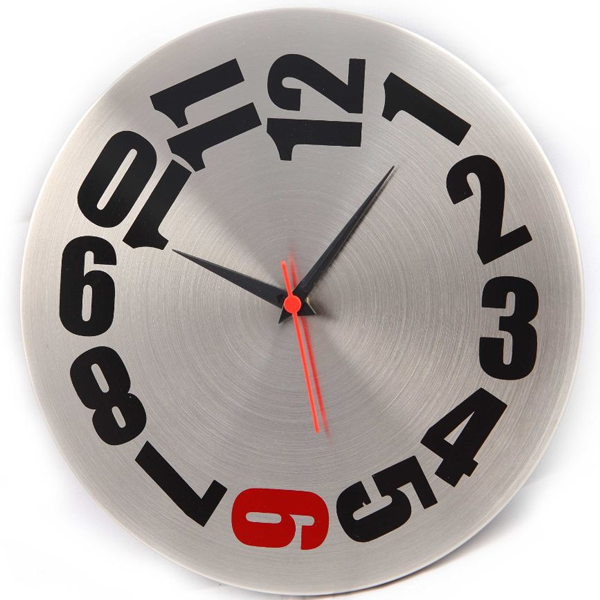 Cosmosgalaxy I2741 Trendy Designer Stainless Steel White and Silver Round Wall Clock