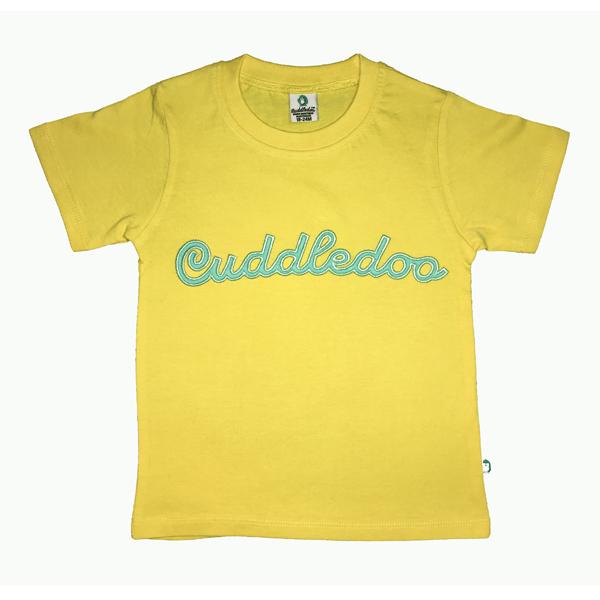 Cuddledoo (CV20S119) Lemon Cuddledoo Embroidery Cotton T Shirt (Yellow)
