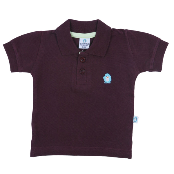 Cuddledoo (CV7S317) Chocolate Brown Polo T-Shirt Polo Neak Boy