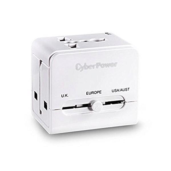 CyberPower TR01WSUA0-UN 1 Port Travel Adaptor (White)
