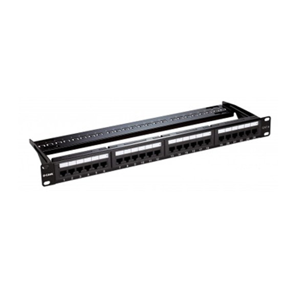 D-Link NPP-C61BLK241 24 Port Cat6 UTP Fully Loaded Patch Panel