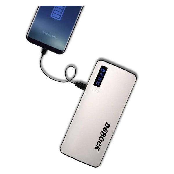 Debock Ldr (11000mAh) Power Bank With 3 Usb Out Put And Led Torch (White)