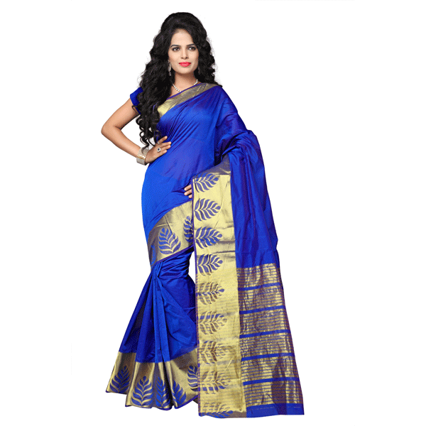 Dhyana Banarasi Style Woven Zari Work Cotton Silk For Women's