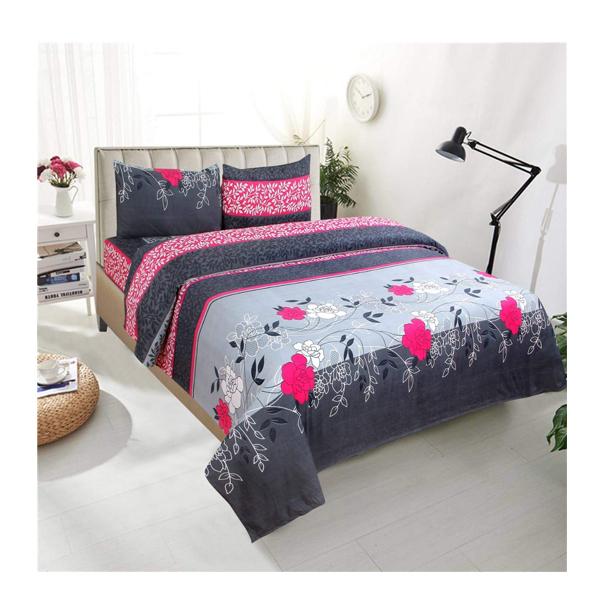 Dream Aura (B07YXSLQSD) Victorian Summer Dream, 100% Polyester Double Bedsheet with 2 Pillow Covers, DA075 (Multi)