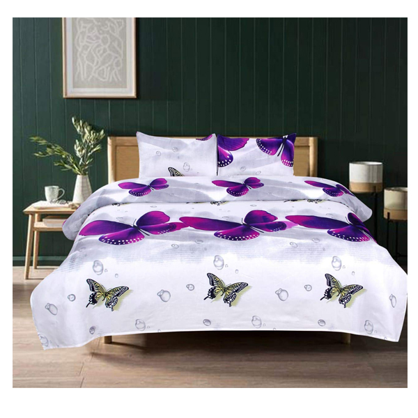 Dream Aura (B07YXRYLLV) Victorian Summer Dream, 100% Polyester Double Bedsheet with 2 Pillow Covers,DA022 (Multi)