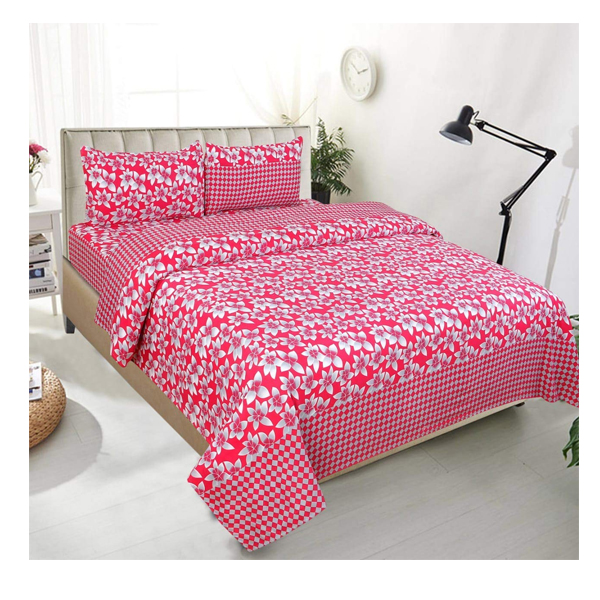 Dream Aura (B07YXSH4CC) Victorian Summer Dream, 100% Polyester Double Bedsheet with 2 Pillow Covers, DA081 (Multi)