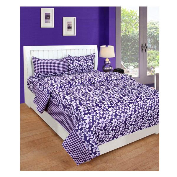 Dream Aura (B07YXSGVM7) Victorian Summer Dream, 100% Polyester Double Bedsheet with 2 Pillow Covers, DA004 (Multi)