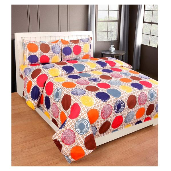 Dream Aura (B07YXSFFNM) Victorian Summer Dream, 100% Polyester Double Bedsheet with 2 Pillow Covers, DA045 (Multi)
