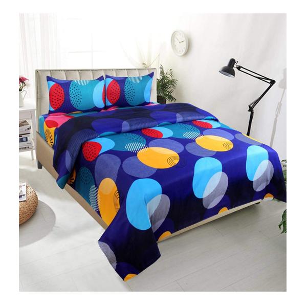 Dream Aura (B07YXSD1S6) Victorian Summer Dream, 100% Polyester Double Bedsheet with 2 Pillow Covers, DA059 (Multi)