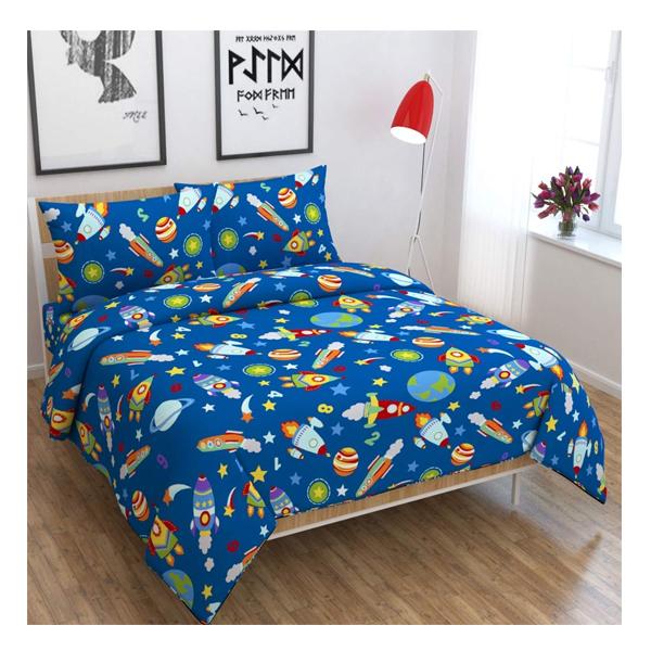 Dream Aura (B07YXS7W26) Victorian Summer Dream, 100% Polyester Double Bedsheet with 2 Pillow Covers, DA068 (Multi)