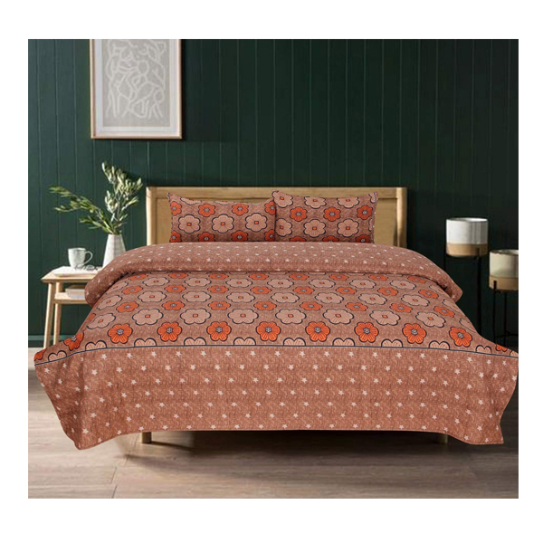 Dream Aura (B07Z3G746F) Victorian Summer Dream, 100% Polyester Double Bedsheet with 2 Pillow Covers, DA007 (Multi)