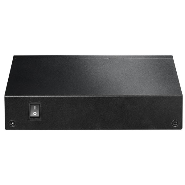 Edimax ES-5104PH V2 Long Range 5-Port Fast Ethernet Switch with 4 PoE Ports & DIP Switch Black