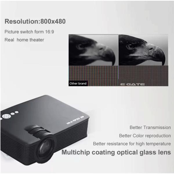 Egate EG I9 (BLACK) Portable LED Projector