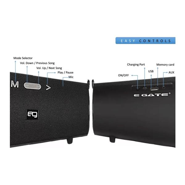 Egate 510 Strap Mini BoomBox Bluetooth Speaker (Black)