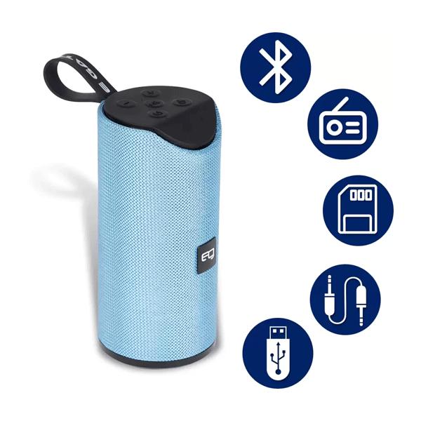 Egate 426 Water Resistant Portable Deep Bass Bluetooth Speaker/12W (Blue)