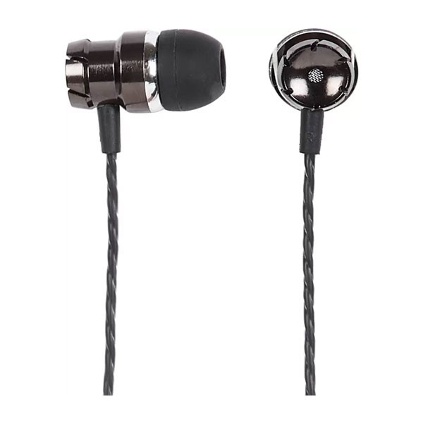 Egate 9 -in Ear High Bass Headphone with in -line mic & Control (Black)