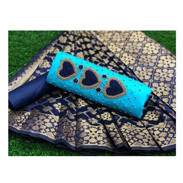Eleven Trendz Dress Material Dil- Khatli Pc cotton unstitched Banarasi ( Multicolor)