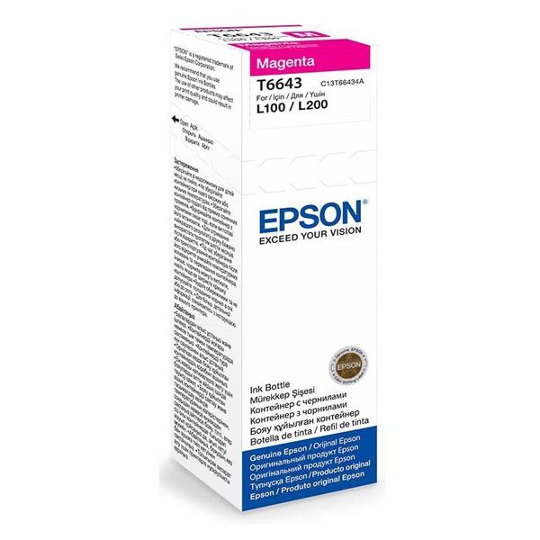 Epson - C13T664398  Magentak Ink Bottle -70 ml