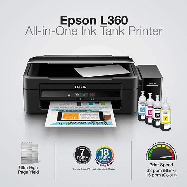 Epson L360 Multi-Function Ink Tank Colour Printer (Black)