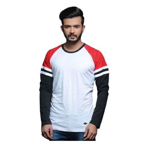 FASHNET ( FI00002) Solid Cotton Round Neck Regular Full Sleeve Men's T-Shirt (Multicolor)
