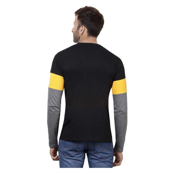FASHNET (FI00006) Solid Cotton Round Neck Regular Full Sleeve Men's T-Shirt ( Multicolor)