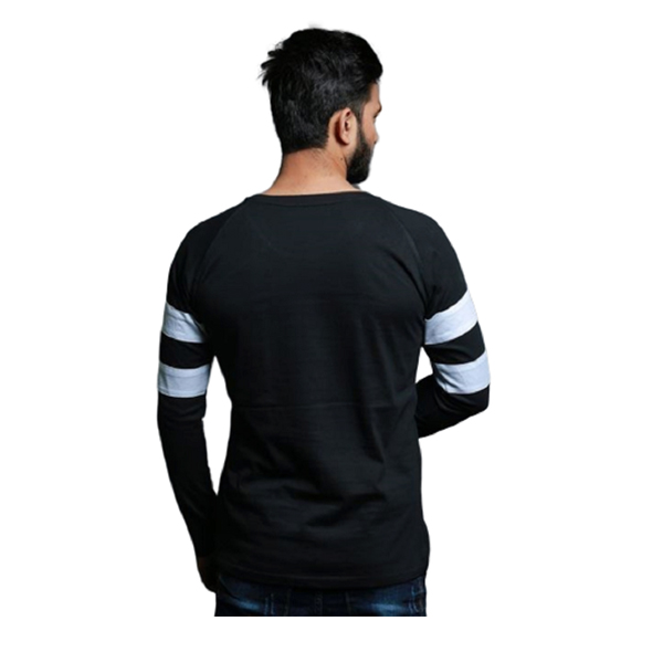 FASHNET (FI00009) Solid Cotton Round Neck Regular Full raglan Sleeve Men's T-Shirt (Multicolor)