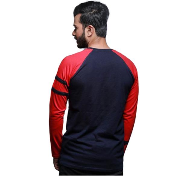 FASHNET ( FI00012 )Solid Cotton Round Neck Regular Full raglan Sleeve Men's T-Shirt (Multicolor)