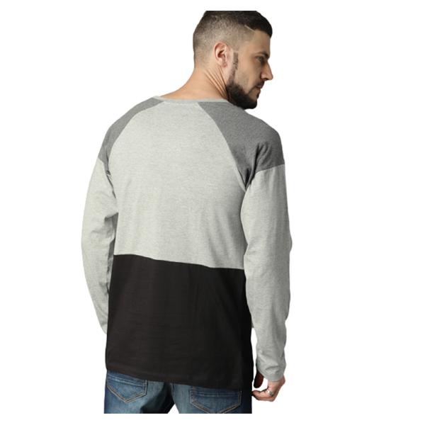 FASHNET (FI00017) Solid Cotton Round Neck Regular Full raglan Sleeve Men's T-Shirt (Multicolor)