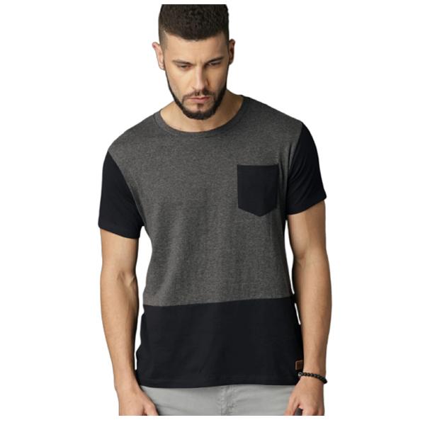 FASHNET (FI00030) Solid Cotton Round Neck Regular Half Sleeve Men's T-Shirt ( Multicolor)