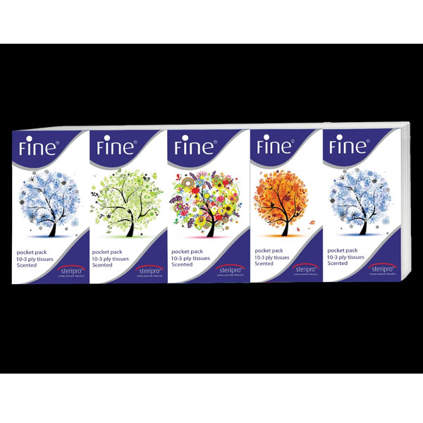 Fine 3 Ply 10 Each Fragrance Piece of Classic,Peach,Four Season and Strawberry Tissue Paper