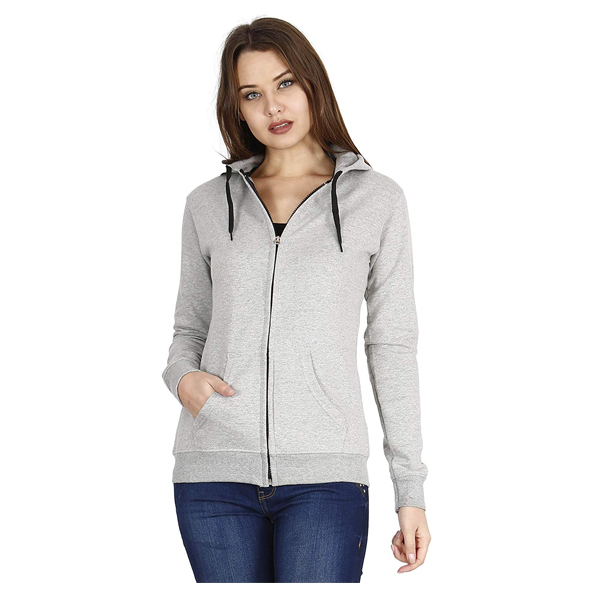FLEXIMAA Womens Casual Cotton Full Sleeves Regular Hoodie ( Multicolor)