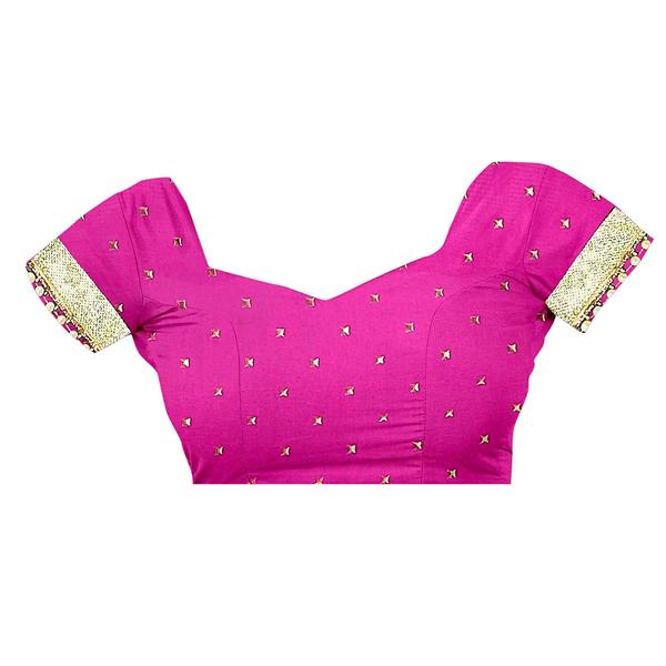 Gaurangi Creation (SHV1003) Women's Pure Chiffon Party Wear Saree Free Size (Pink)