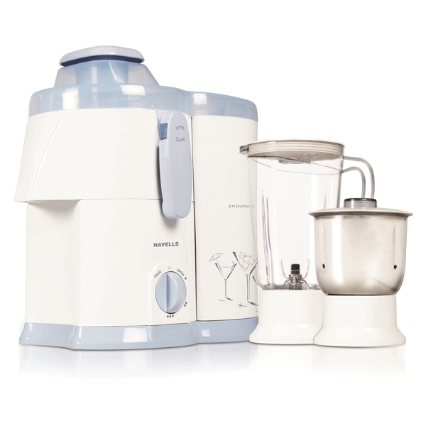 Havells Endura GHFJMAIW050 500-Watt Juicer Mixer Grinder with 2 Jars