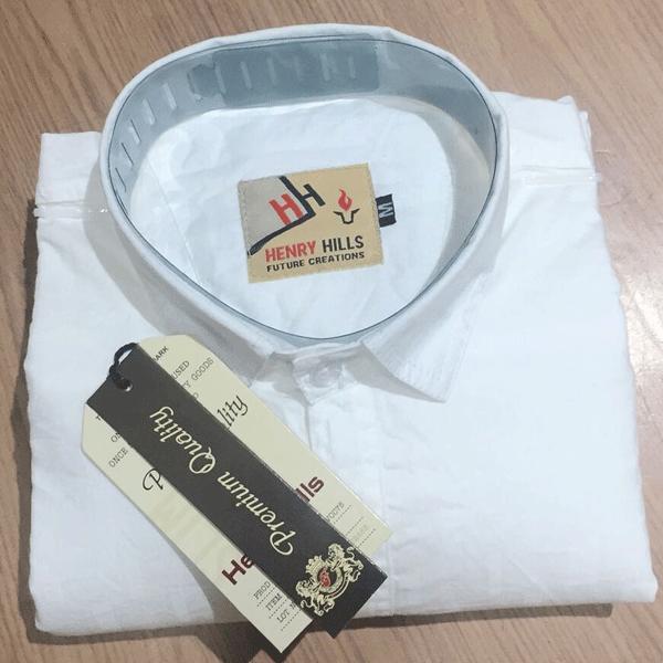 Henry Hills Cotton Full Sleeves Men's Shirt White