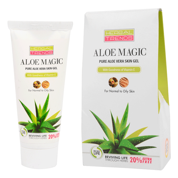 Herbal Trends Pure Aloe Vera Skin Gel (with Vitamin-E) - Oily Skin