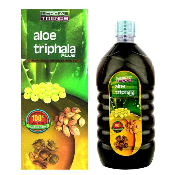 Herbal Trends Aloe Triphala Plus- Goodness of Pure Aloe Vera With Triphala Ras- Mild body detox