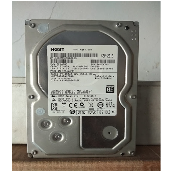 HGST- HDD Capacity 4 TB