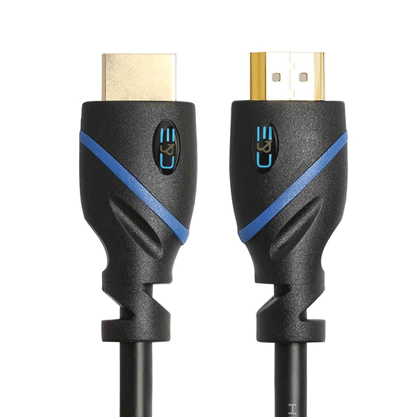 C&E High Speed HDMI Cable, (12 Feet), Supports Ethernet, 3D and Audio Return, UltraHD 4K Ready, Cable Black