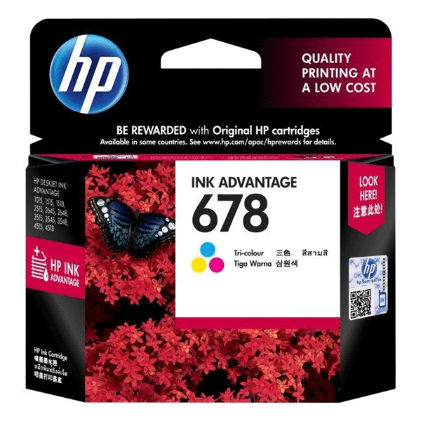 HP 678 (CZ108AA) Tri Color Ink Cartridge