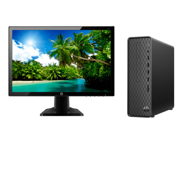 HP S01-PF0123IL Slim Desktop (Intel Core I3-9100/ 9th Gen/ 8GB RAM / 1TB HDD/ DOS/ Mini Tower Pc), Black