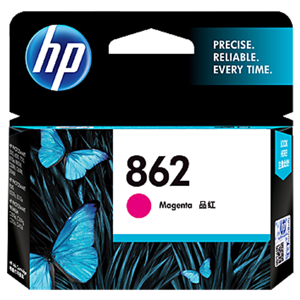HP 862 Magenta Ink Cartridge - CB319ZZ, 1 Year Warranty