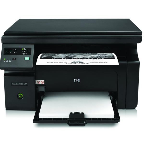 HP LaserJet Pro- M1136 Multifunction Monochrome Printer, Black, 1 Year Warranty