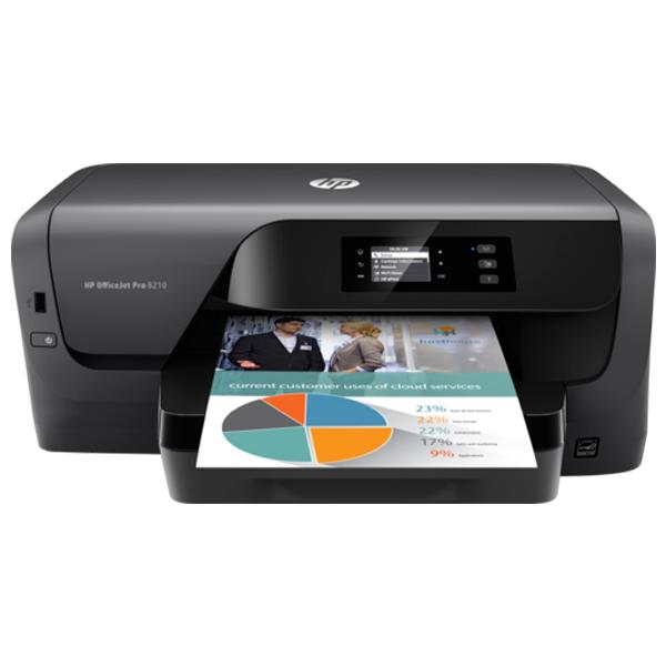 HP Office Jet Pro 8210 Printer- D9L63A, 1 Year Warranty