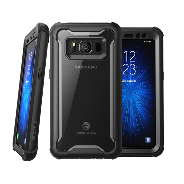 i-Blason (B074PR1KYW) Case for Galaxy S8 Active 2017 Release, (Ares) Full-body Rugged Clear Bumper Case with Built-in Screen Protector (Not Fit Regular Galaxy S8/S8 Plus) (Black)