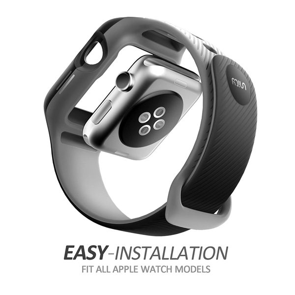i-Blason (B079L3S4SF) Band Compatible with Apple Watch 3 42 mm, (New Unity Series) Premium Hybrid Protective Bumper Band for Apple Watch 42 mm 2017 Release (Compatible with Apple Watch 42mm 2015 2016)