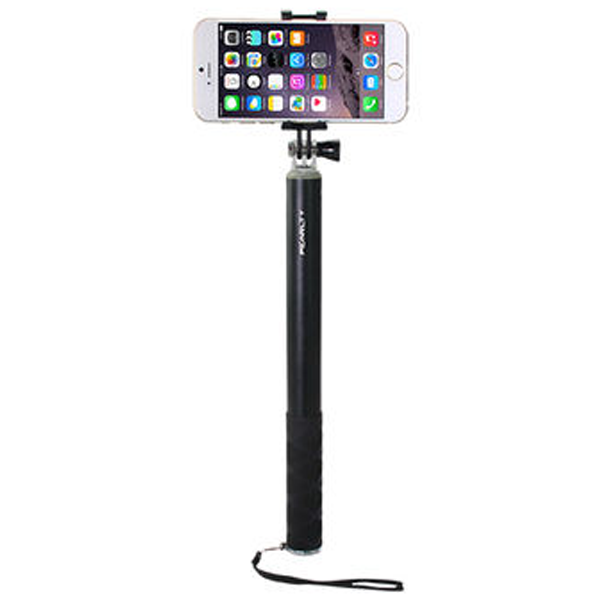 iPearl - IP14-PO-08904A, Folding Plus Selfie Stick, (Plus) 120cm Maximum Length, Black
