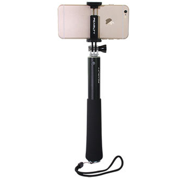 iPearl- IP14-PO-08905A, Folding Plus Selfie Stick, Wireless Integrated Edition, 90 cm Length, Black
