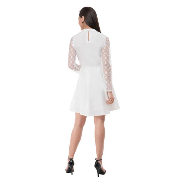 Karmic Vision (SKU000961) Crepe Pleated Dress (White)