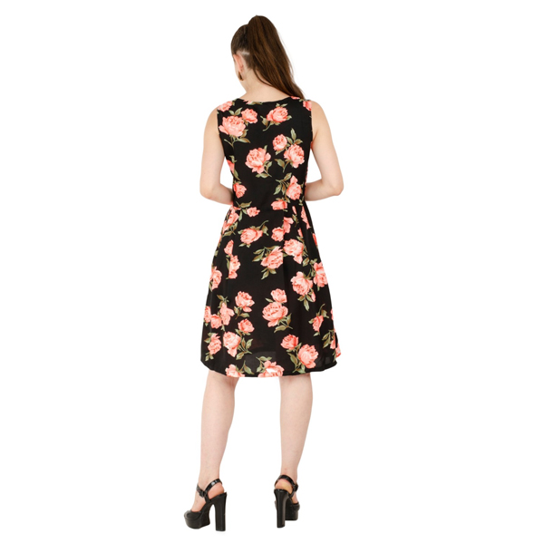 Karmic Vision (SKU000790) Crepe a-line Dress (Multicolor)