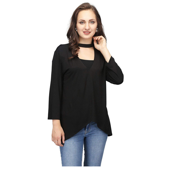 Karmic Vision (SKU000260) Vision Poly Hozery Women's Top (Black)